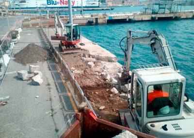 scavi, escavazioni, demolizioni, isola d'elba