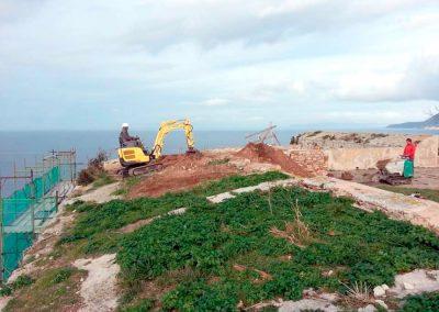 scavi, escavazioni, sbancamenti, isola d'elba