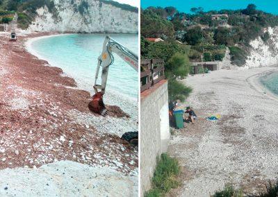 scavi, escavazioni, sistemazione spiagge, isola d'elba